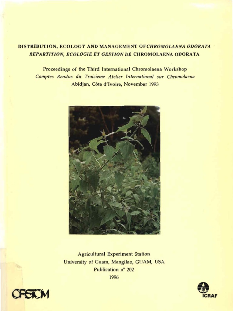 Créer Un Jardin Exotique sous Nos Climats Nouveau Chromolaena Biocontrol 1993