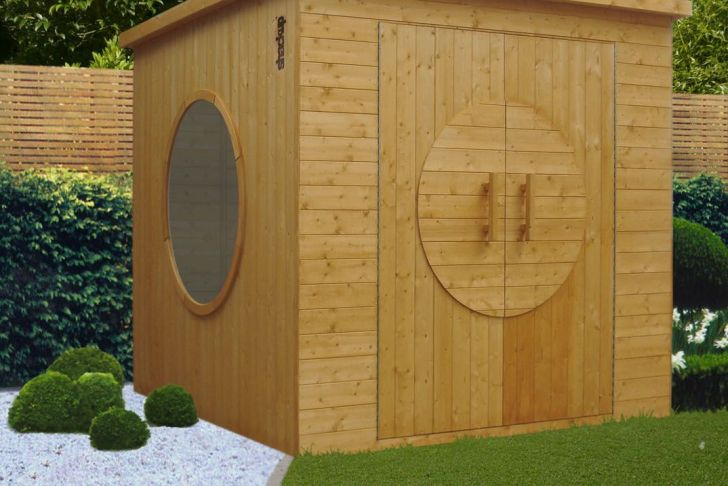 Dalle Beton Abris De Jardin Luxe Garden Shed with Porthole Windows Garden Outdoors