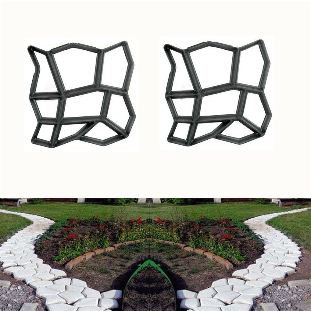 Decorer son Jardin Avec Des Pierres Unique Unho Moule  Pavé Irrégulier En Plastique Moule De Pavage