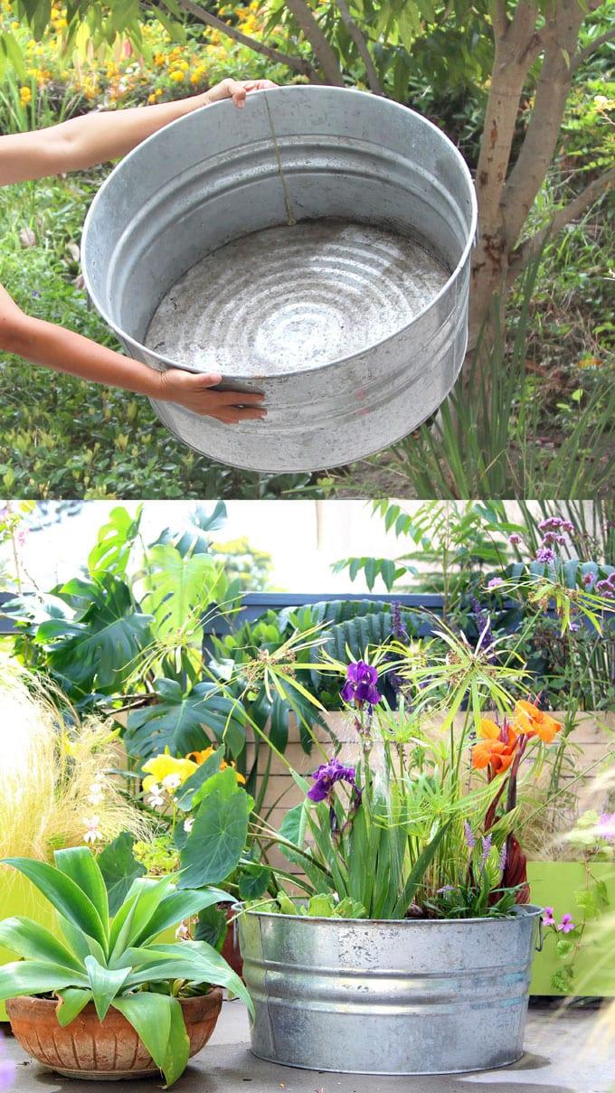 diy solar fountain bird bath outdoor solar pump patio pond water plants apieceofrainbow 1