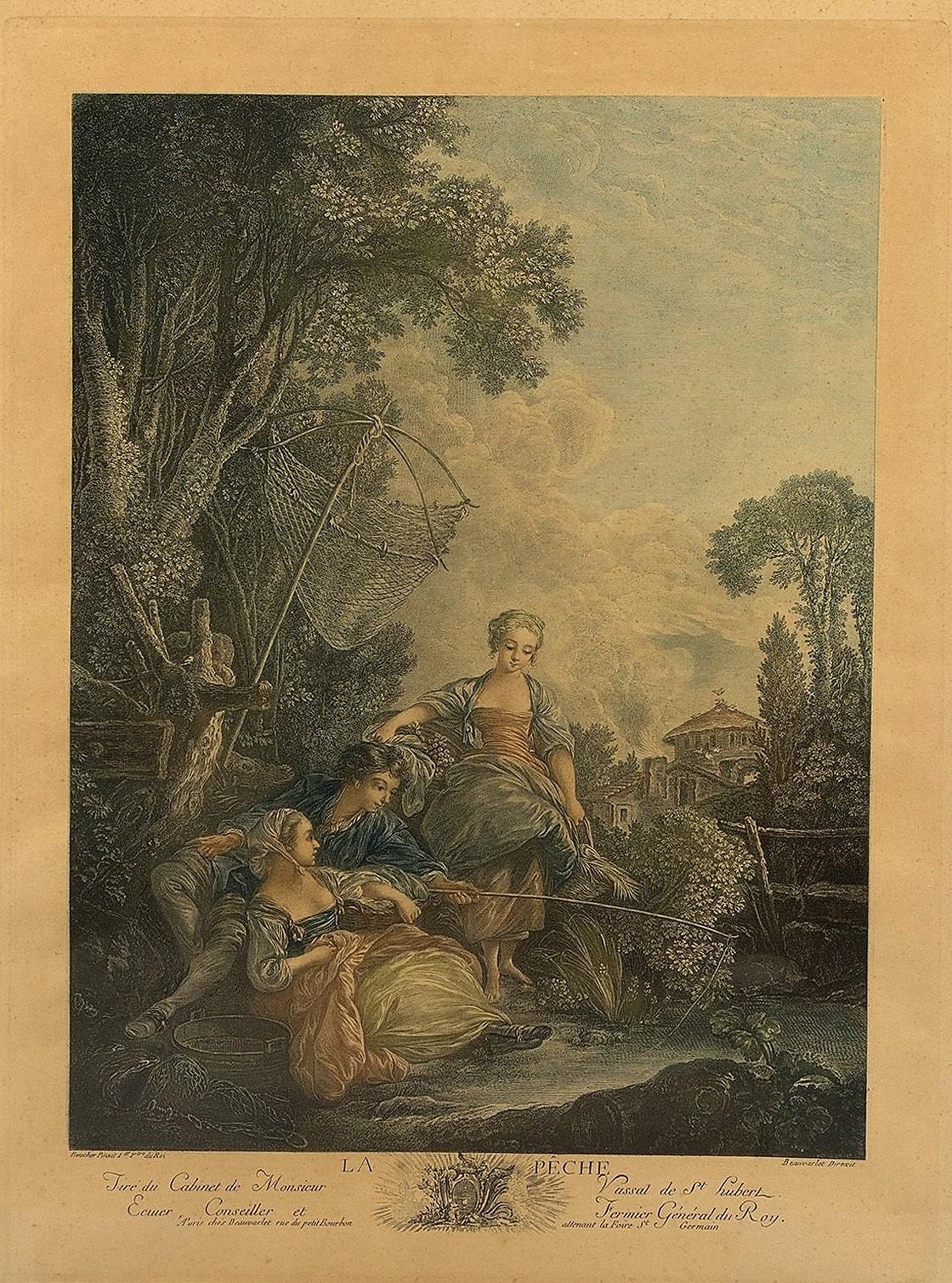 Boucher 1766 Les amusements de la jeunesse au village la peche
