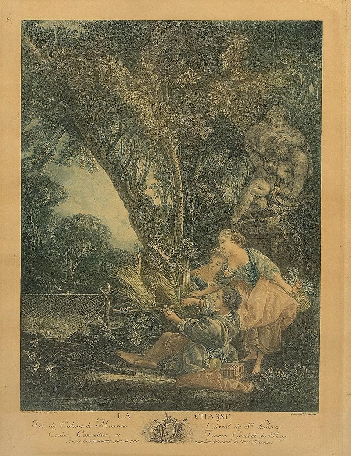 Boucher 1766 Les amusements de la jeunesse au village la chasse