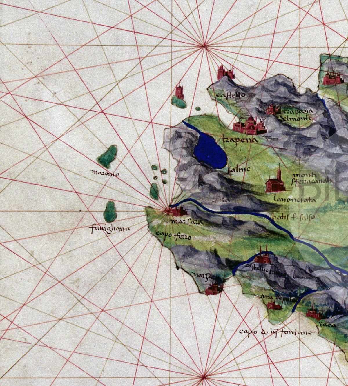 20 zoom Agnese Battista carta corografico nautica della S 1556