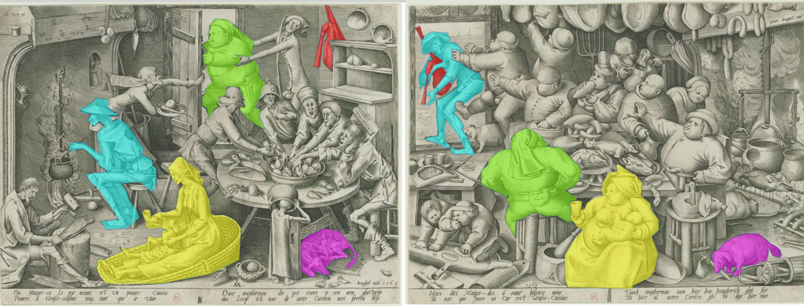 Brueghel cuisine maigre grasse schema
