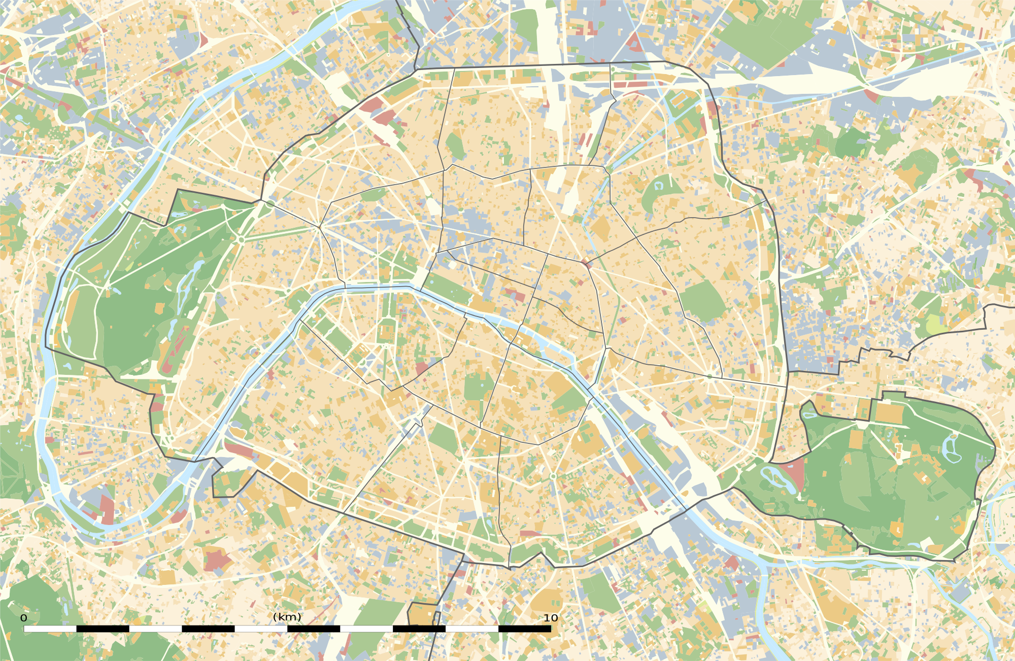 2000px Paris department land cover location mapg