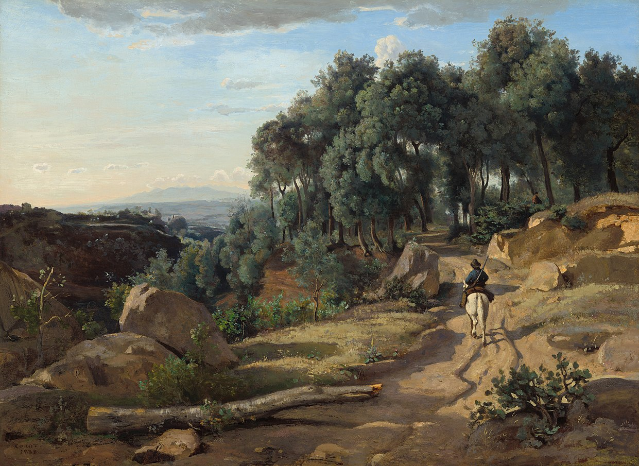 1242px A View near Volterra 1838 Jean Baptiste Camille Corot