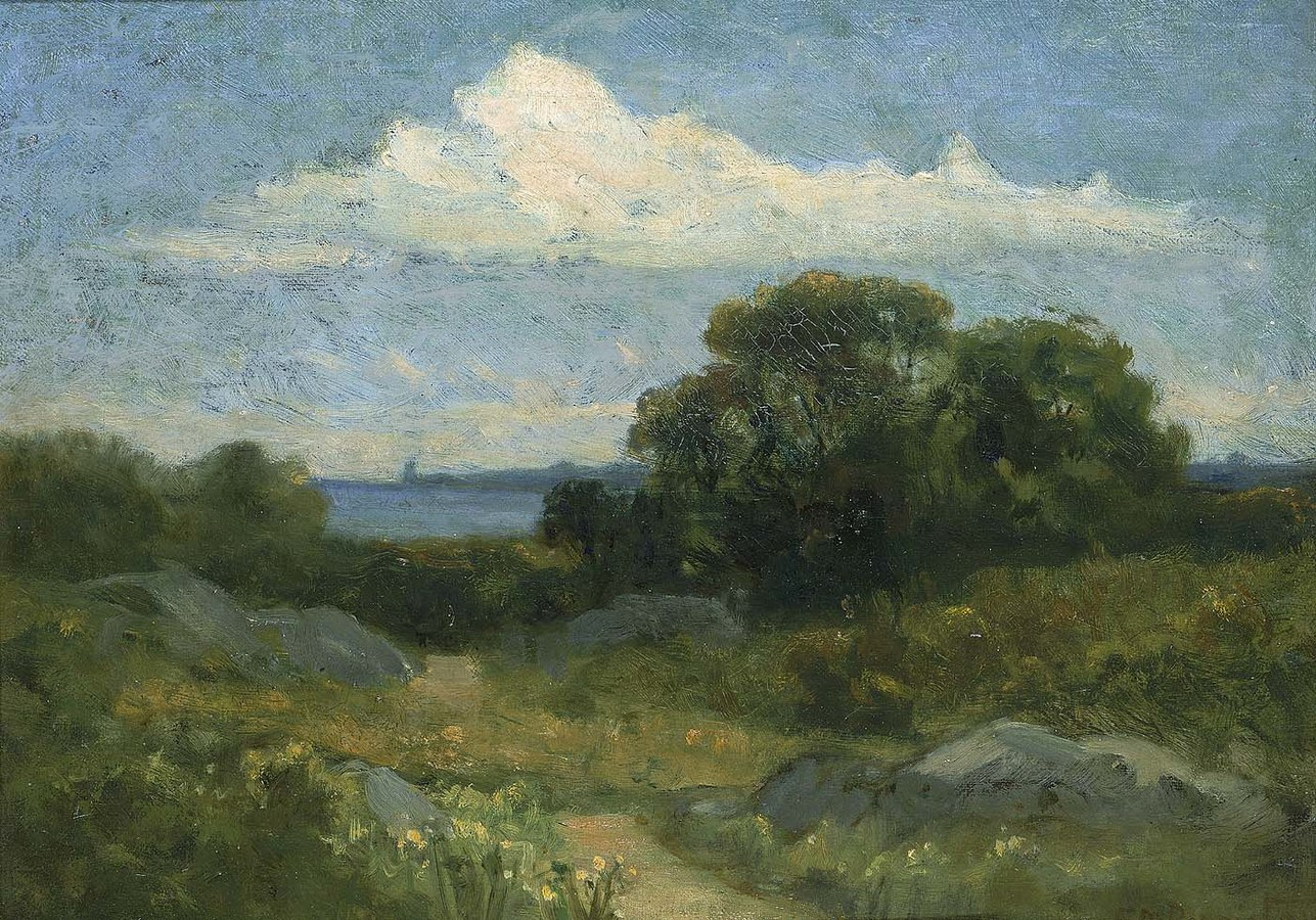 1287px Edward Mitchell Bannister Landscape trees and rocks by lake 1983 95 64 Smithsonian American Art Museum