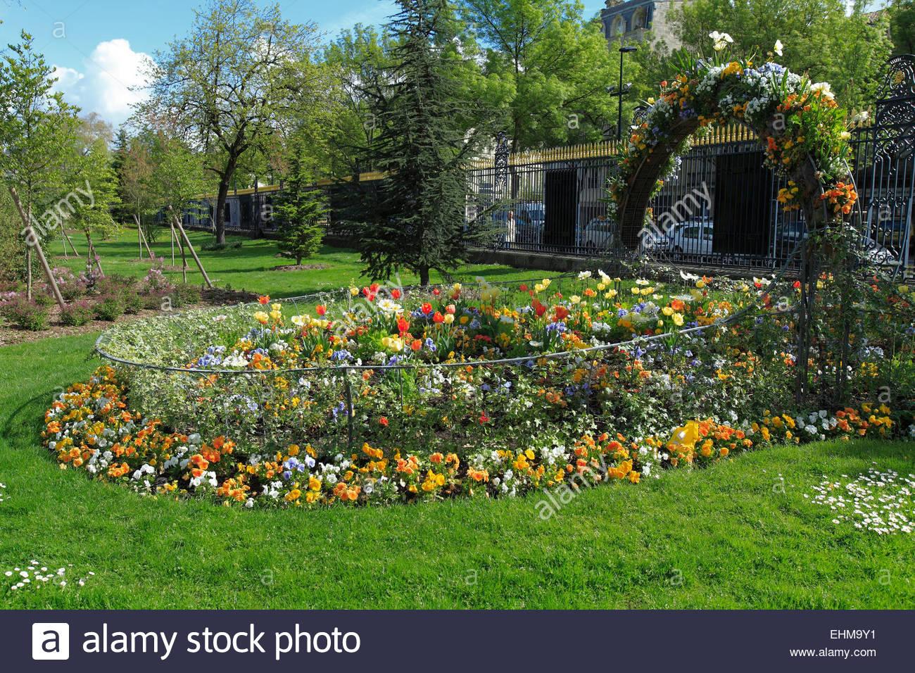 jardin botanique public botanic garden bordeaux france EHM9Y1