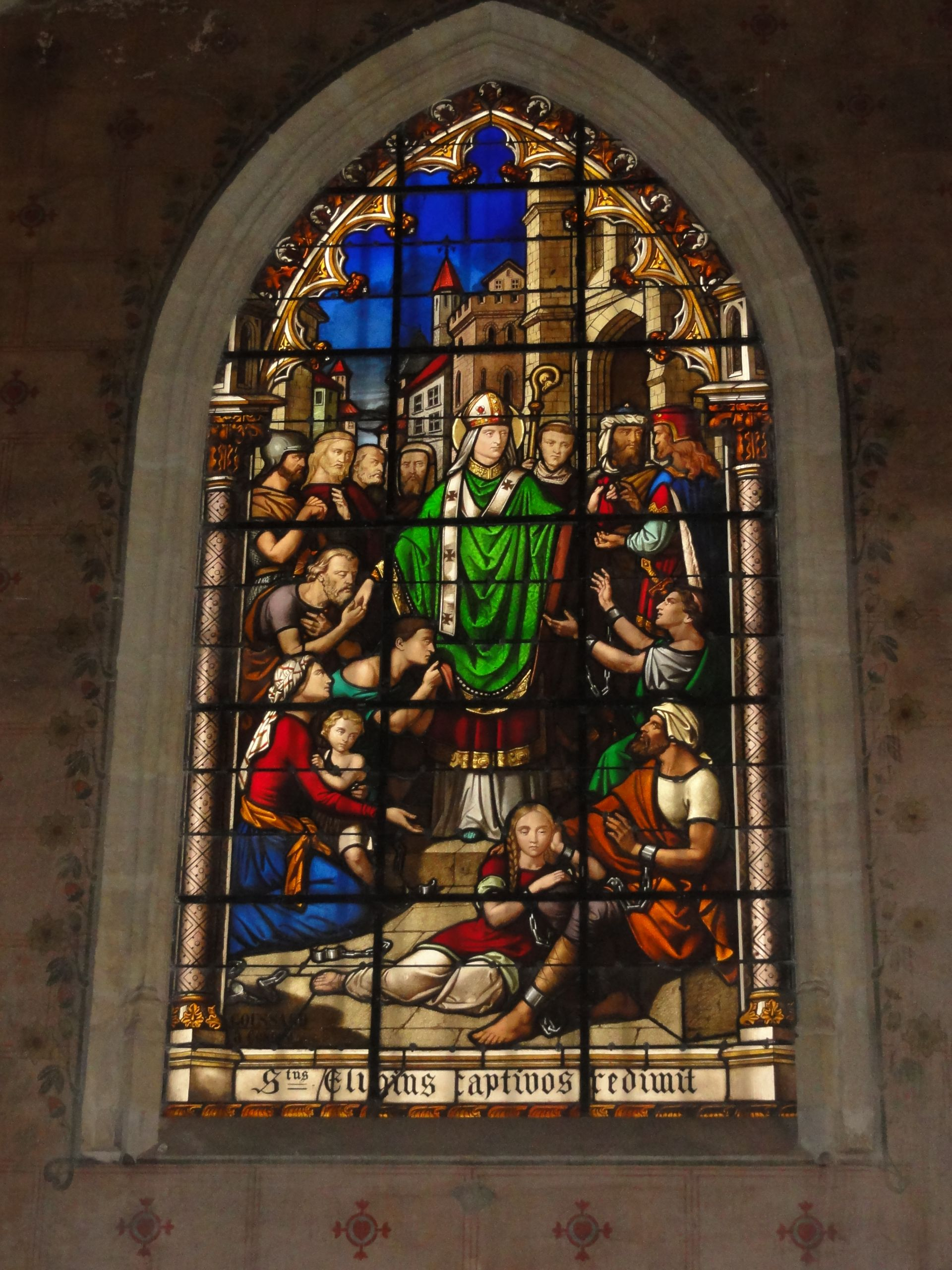 Église Saint Éloi de Bordeaux vitrail St Eloi JPG
