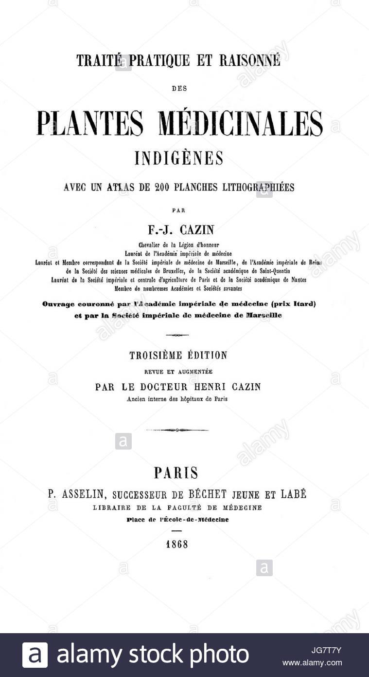 trait des plantes mdicinales cazin franois joseph 1868 JG7T7Y