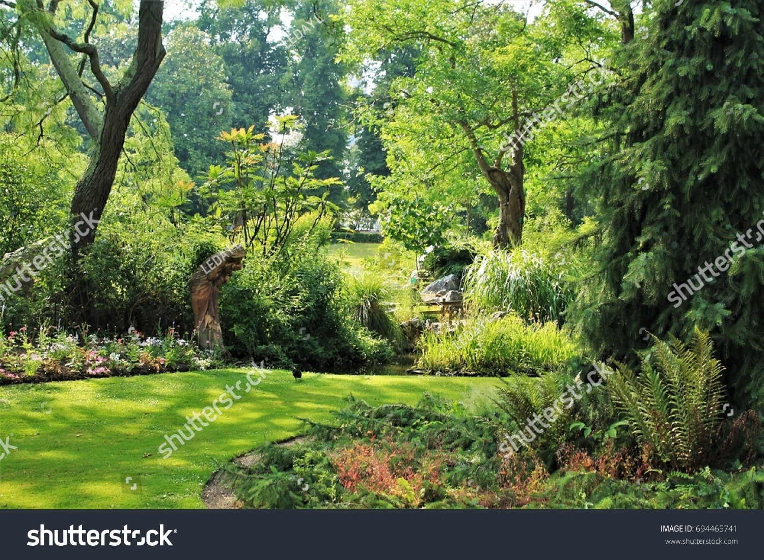 stock photo jardin des plantes botanical garden of nantes loire atlantique pays de la loire region france