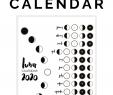 Jardin Calendrier Lunaire Unique 2020 Lunar Calendar Bullet Journal Printable