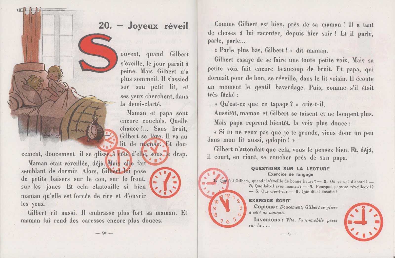Jauffret Petit Gilbert Premier livre de lecture 0020 joyeux réveil