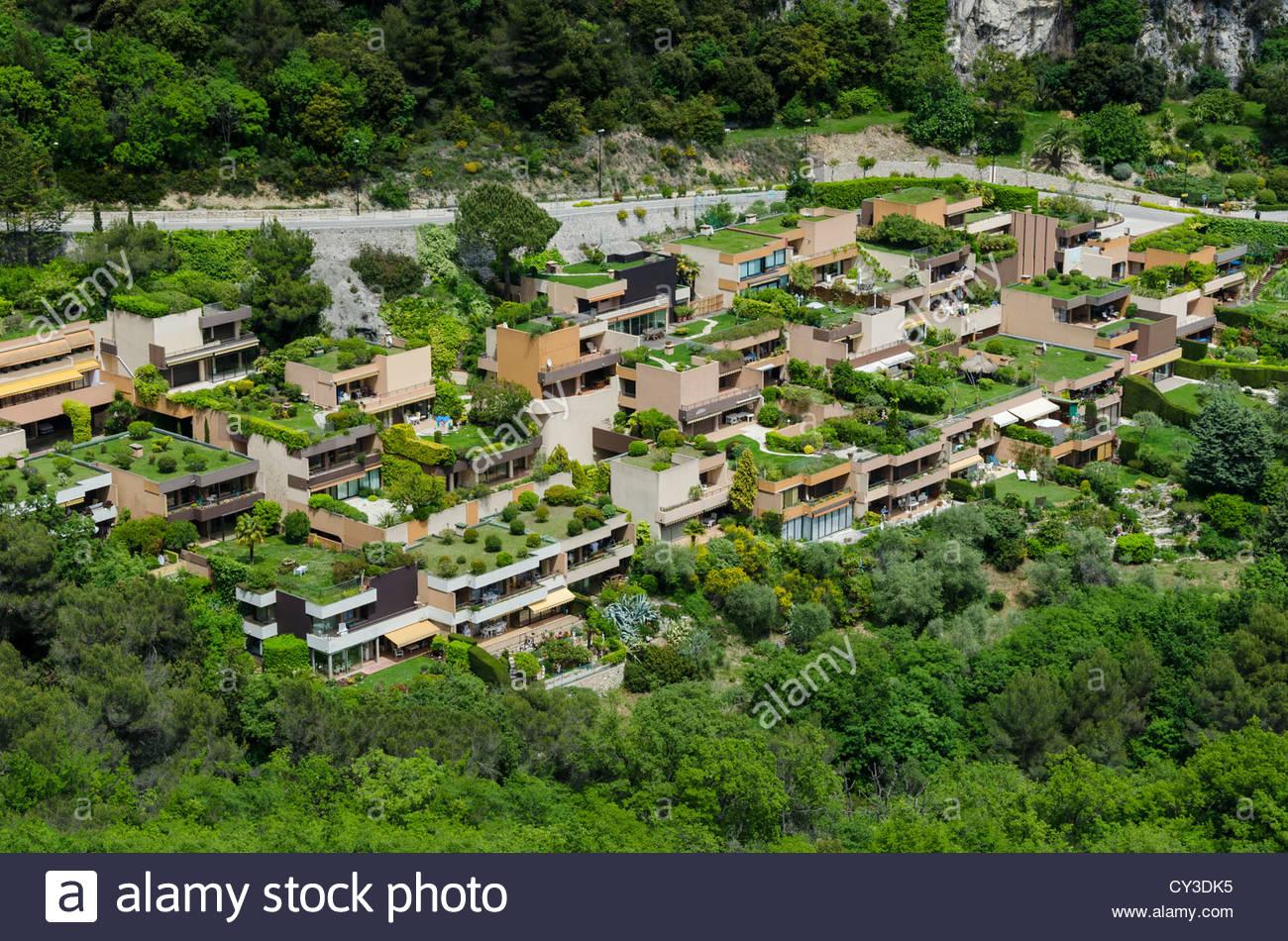 le jardins de libac housing development with roof gardens eze france CY3DK5
