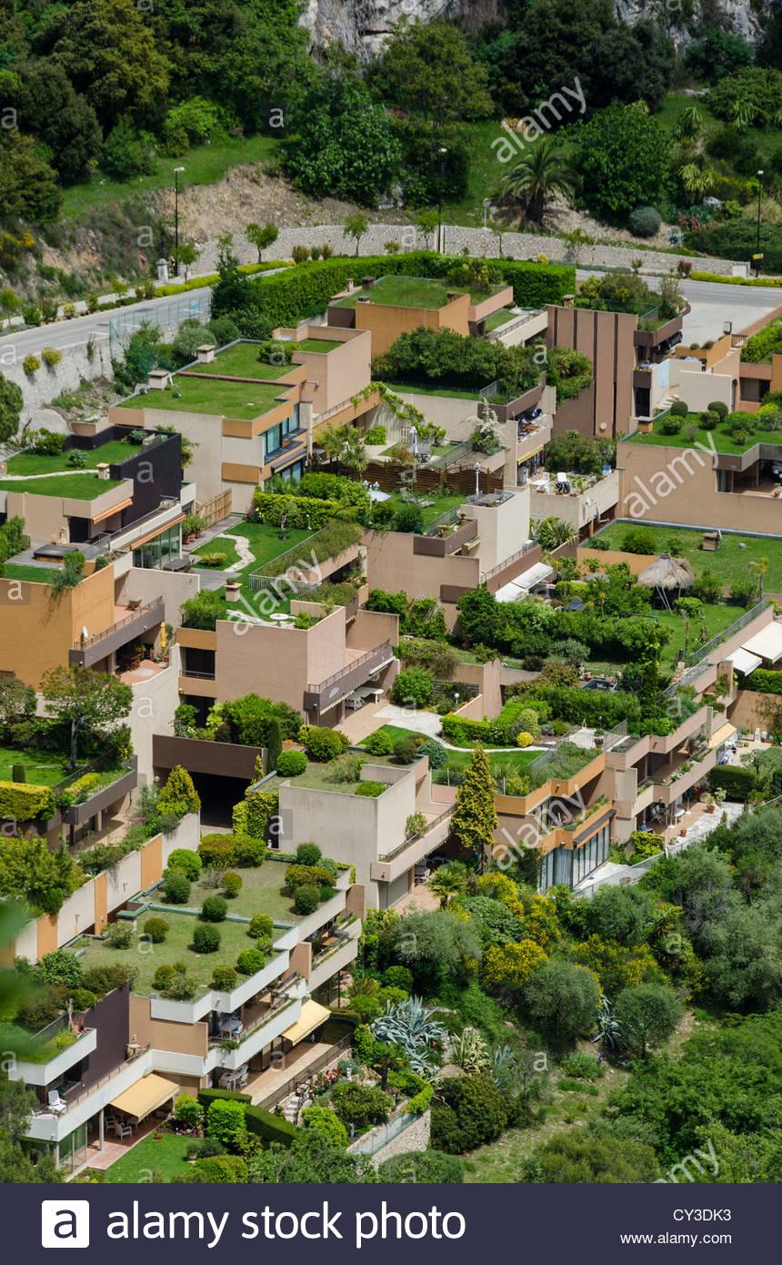 le jardins de libac housing development with roof gardens eze france CY3DK3