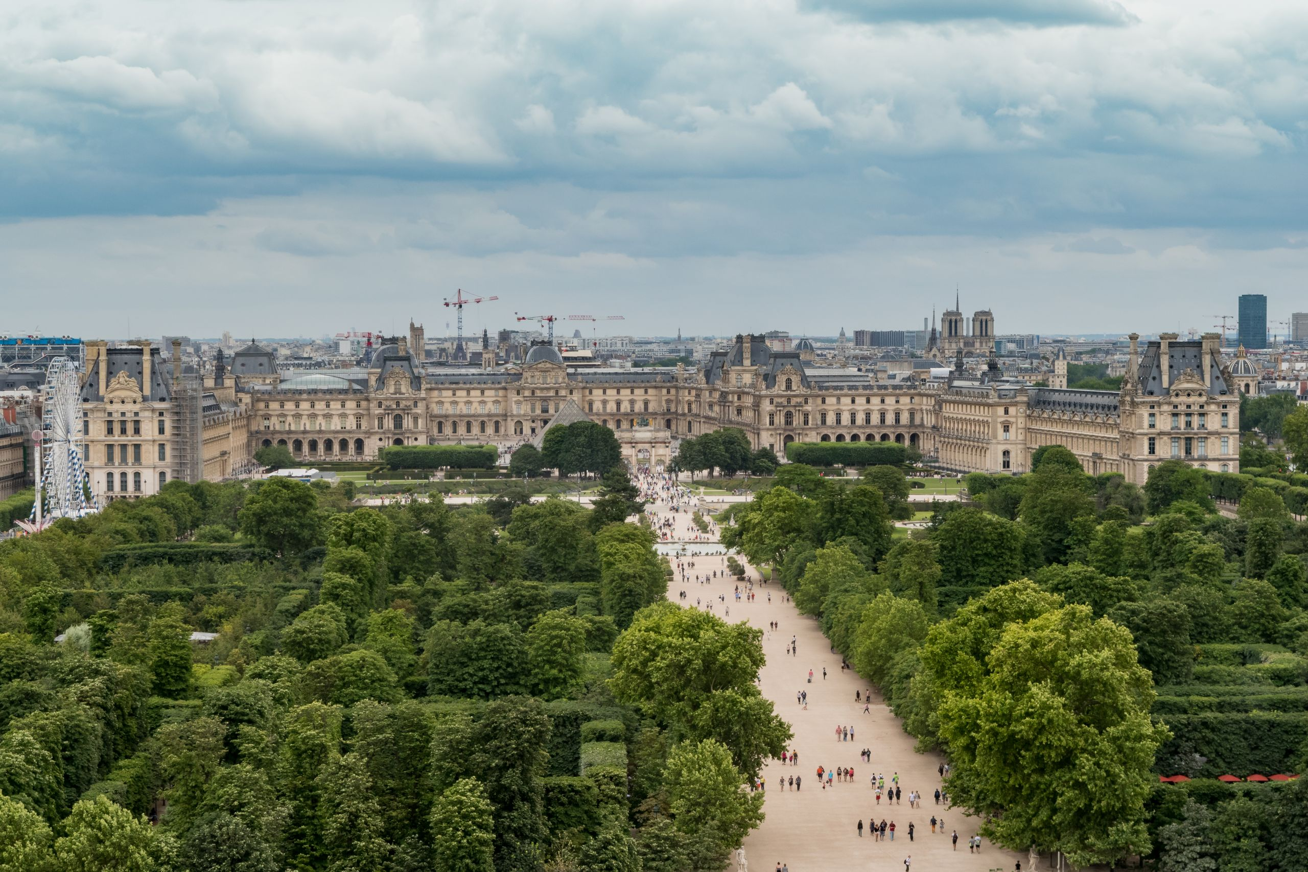 Louvre Museum from the Roue de Paris 11 July 2016