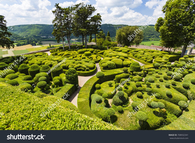 stock photo les jardins de marqueyssac vezac dordogne france