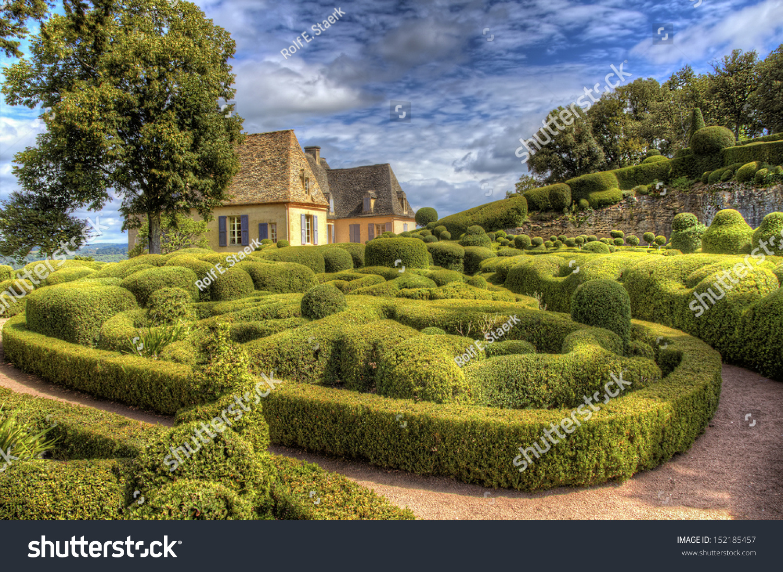 stock photo les jardins de marqueyssac dordogne france