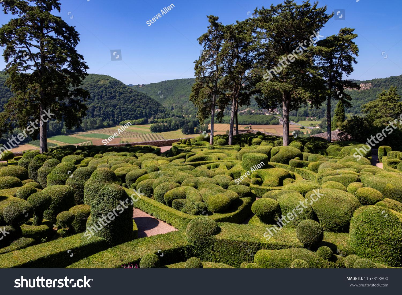 stock photo dordogne france topiary in the gardens of the jardins de marqueyssac in the dordogne