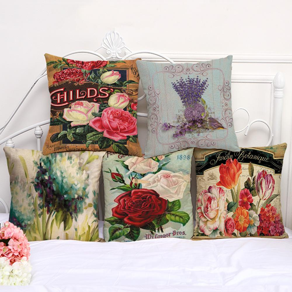 Jardin De Roses Inspirant Pillow Covers Cotton Pillow sofa Rose Hug Pillowcase Retro Flower Painted Print Square Pillowcase Cushion sofa Pillow Cushion Case Cover Foam Pillow Of 89 Nouveau Jardin De Roses