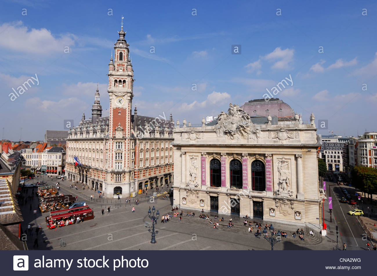 france nord lille opera and belfry of the chamber of merce and CNA2WG