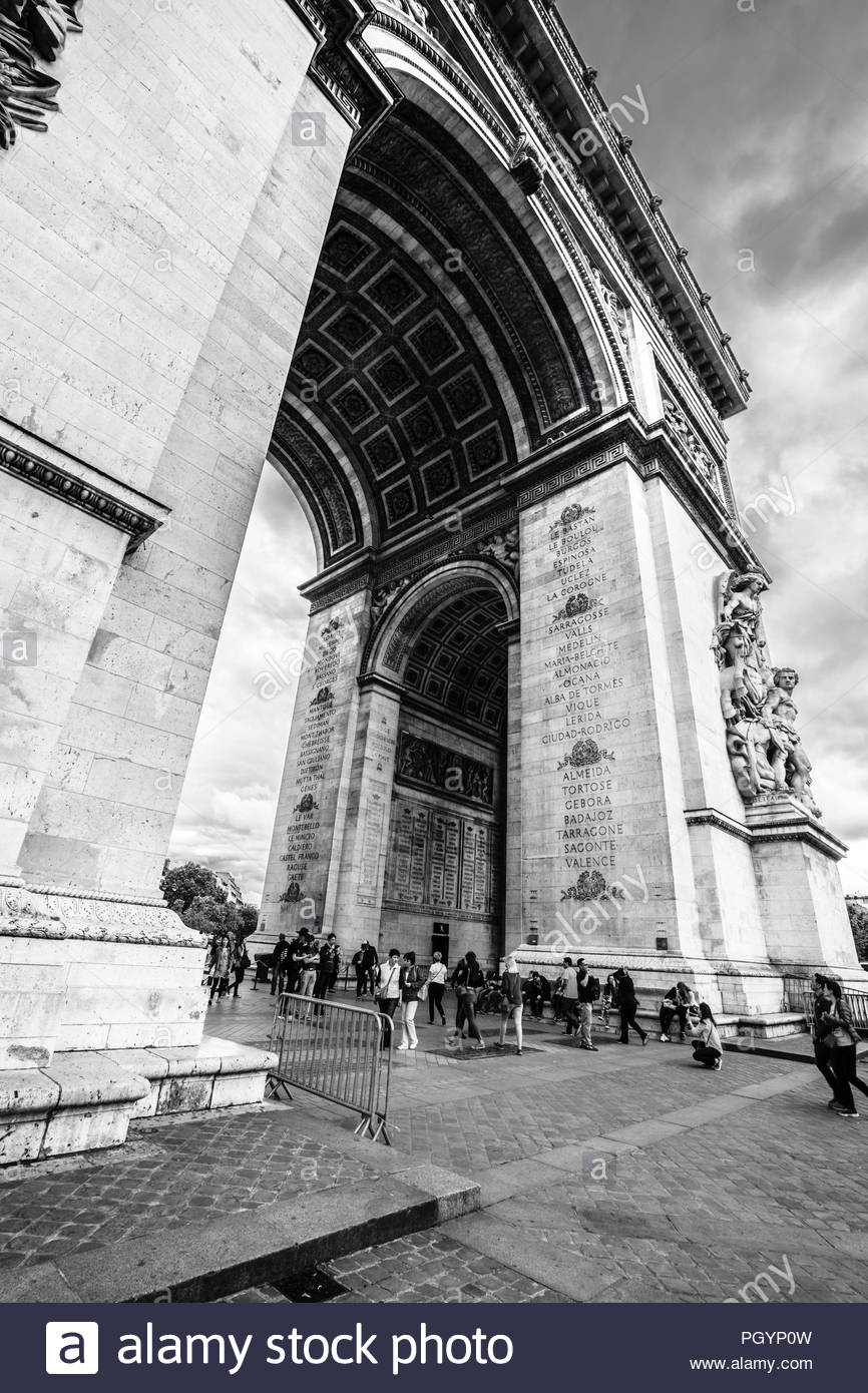 triumph arch paris arch d triomphe is one of the most famous monuments in paris standing at the western end of the champs lyses at the center PGYP0W