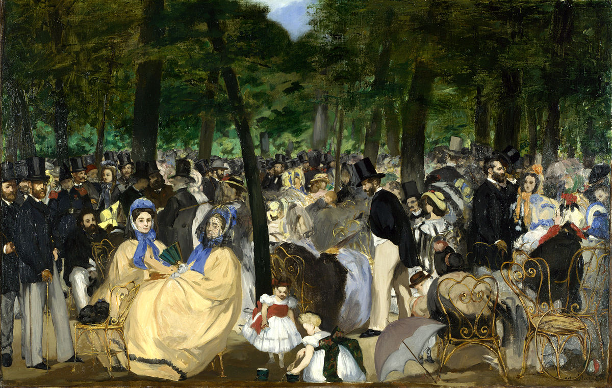 1200px MANET Música en las Tulleras National Gallery Londres 1862