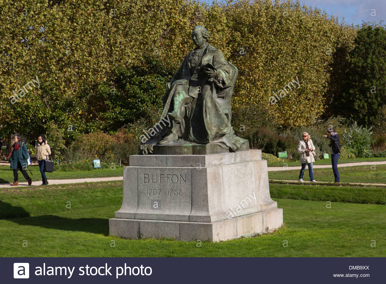 statue of the count of buffon 1707 1788 naturalist scientist and steward DMB9XX