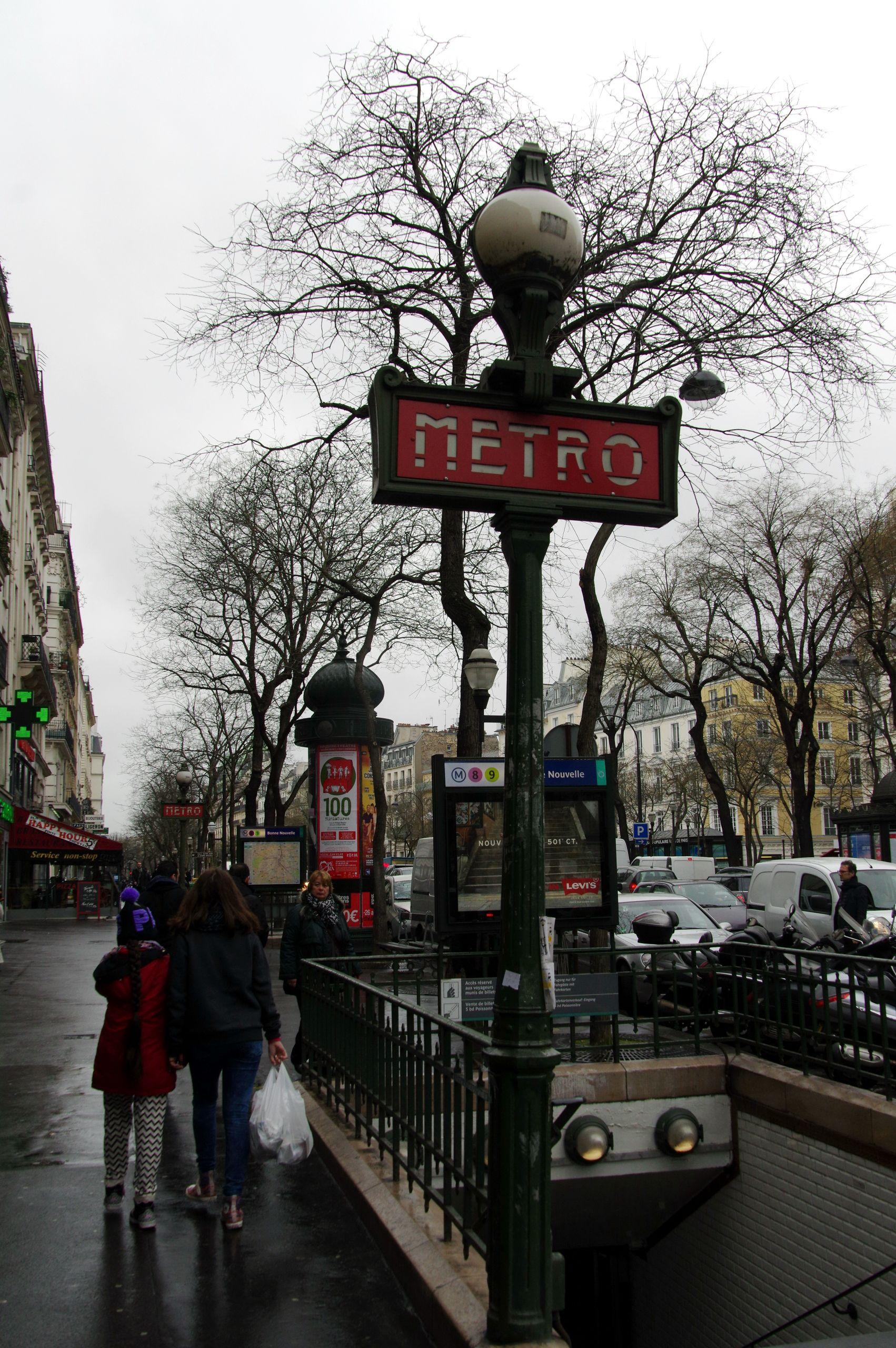 Bonne Nouvelle Paris Metro April 2015