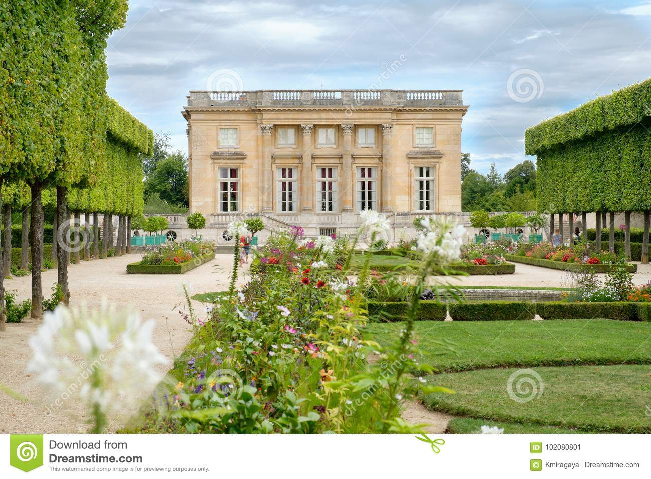 petit trianon grounds palace versailles near paris chateau