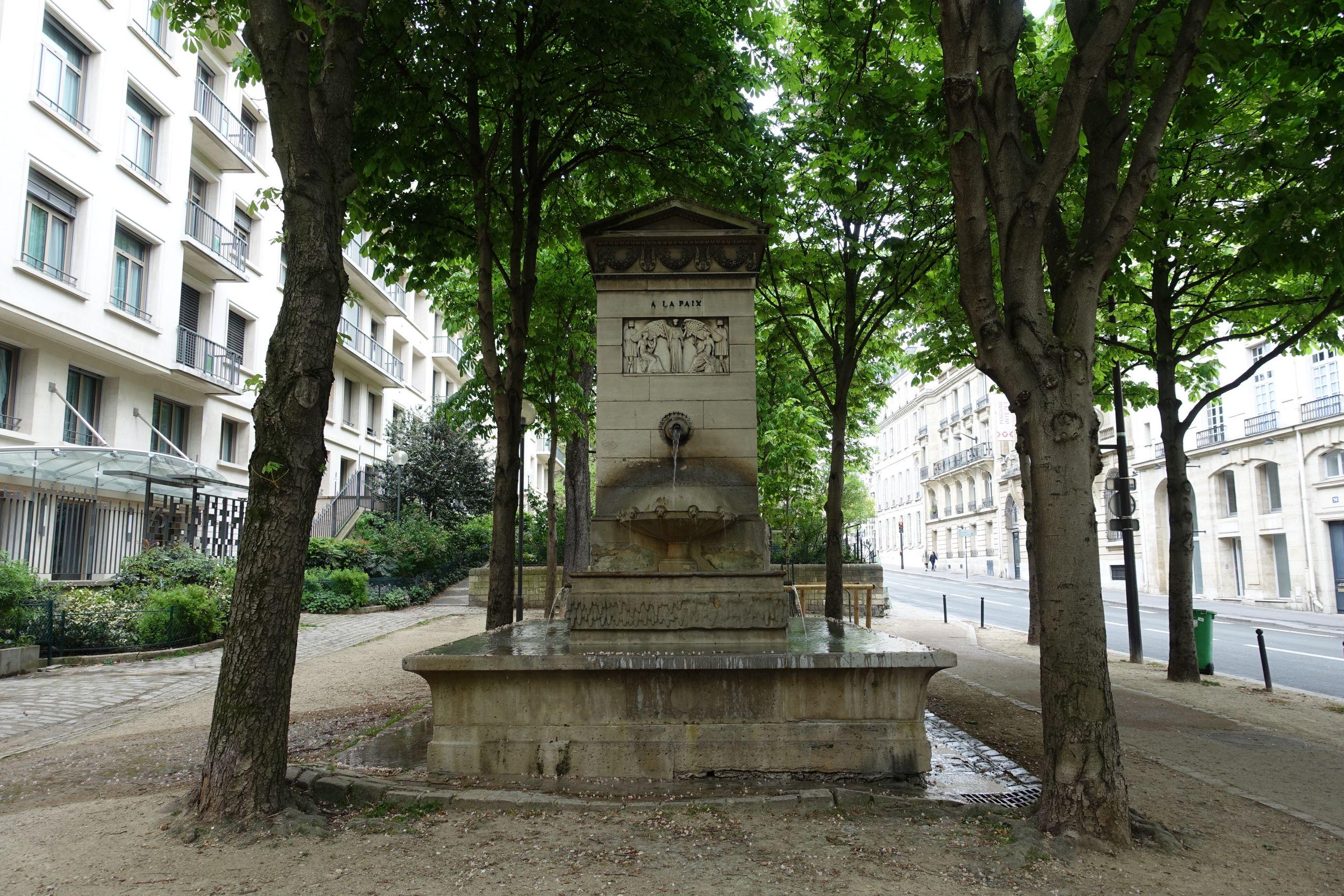 Fountain Promenade de l allée du Séminaire Jean Jacques Olier Paris %