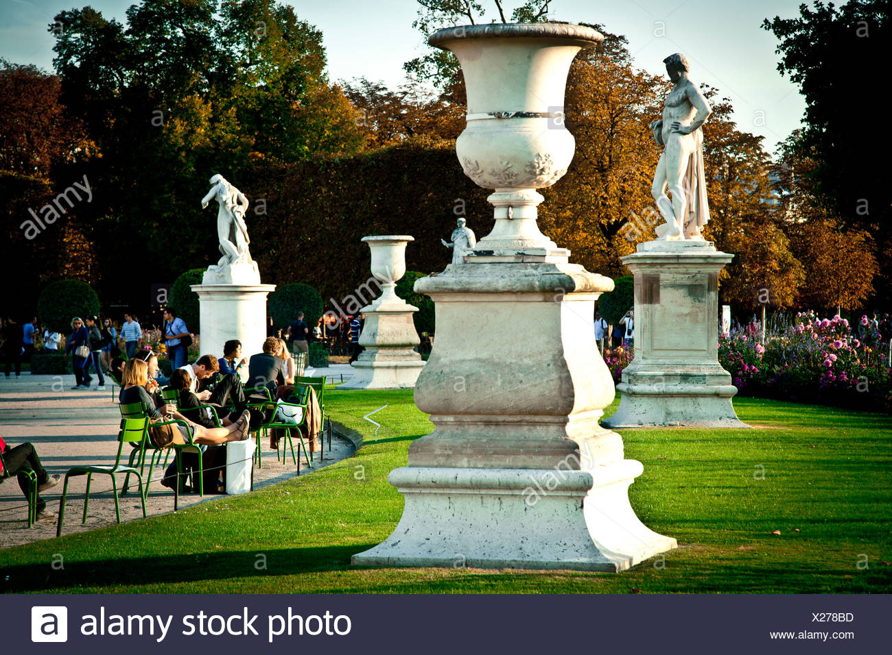 jardin des tuileries in paris france europe X278BD
