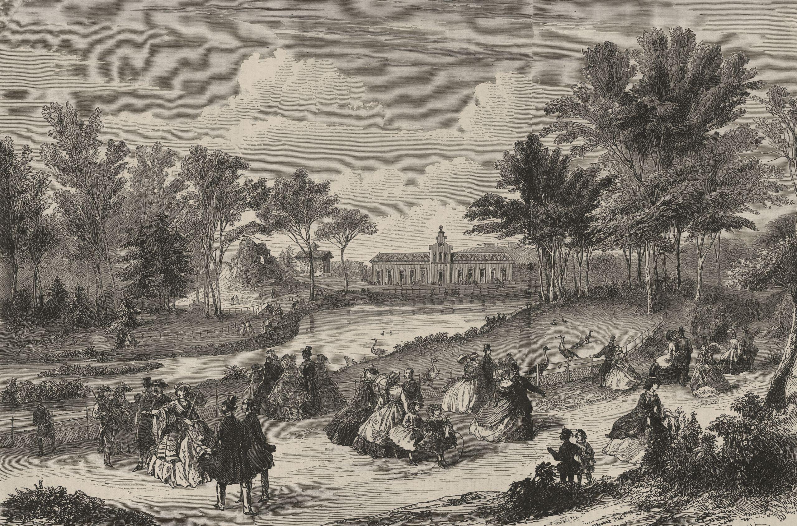 Aspect général du Jardin zoologique d acclimatation du bois de Boulogne