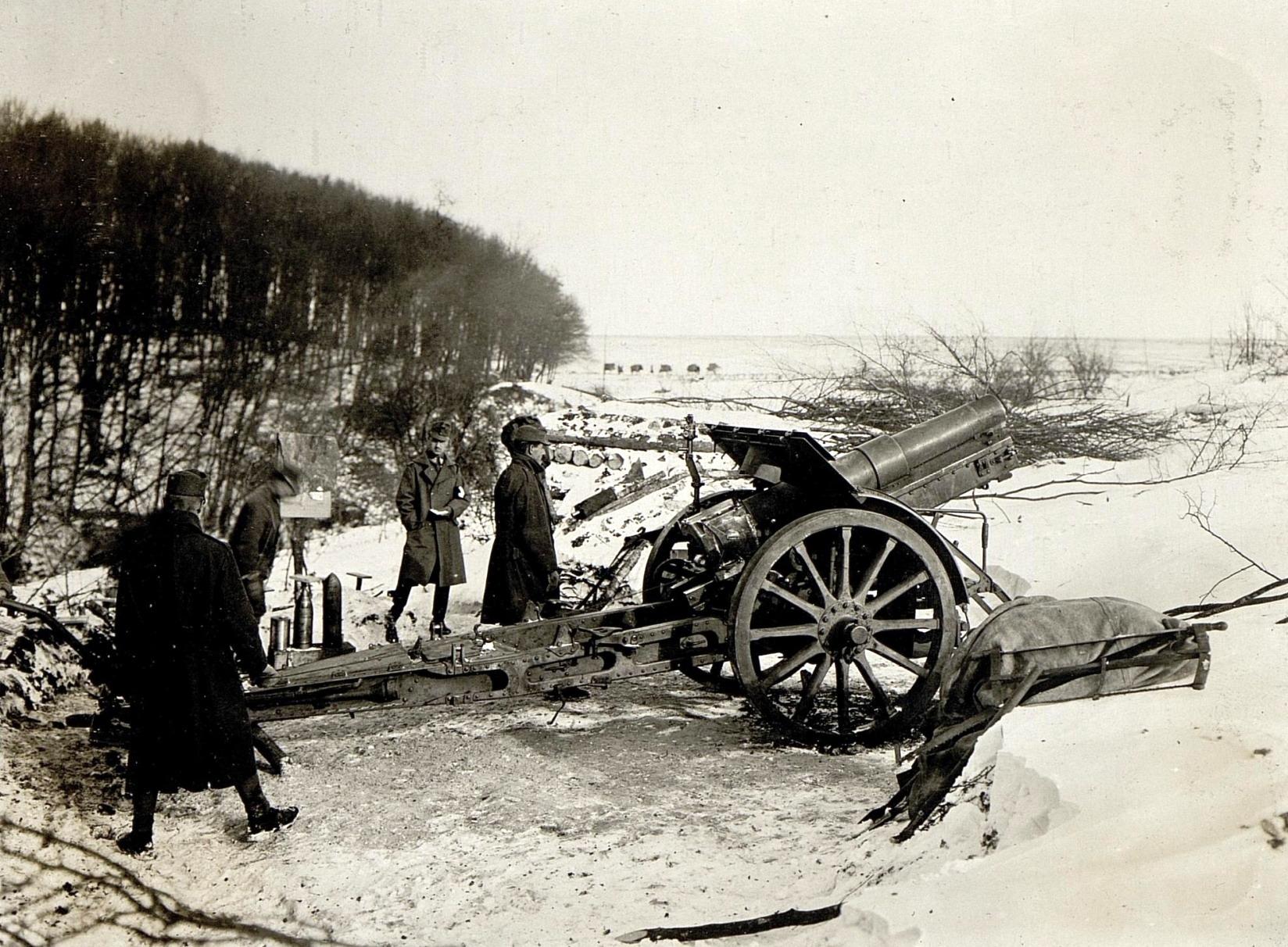 1917 obuzier skoda de 150mm austro ungar frontul din romania