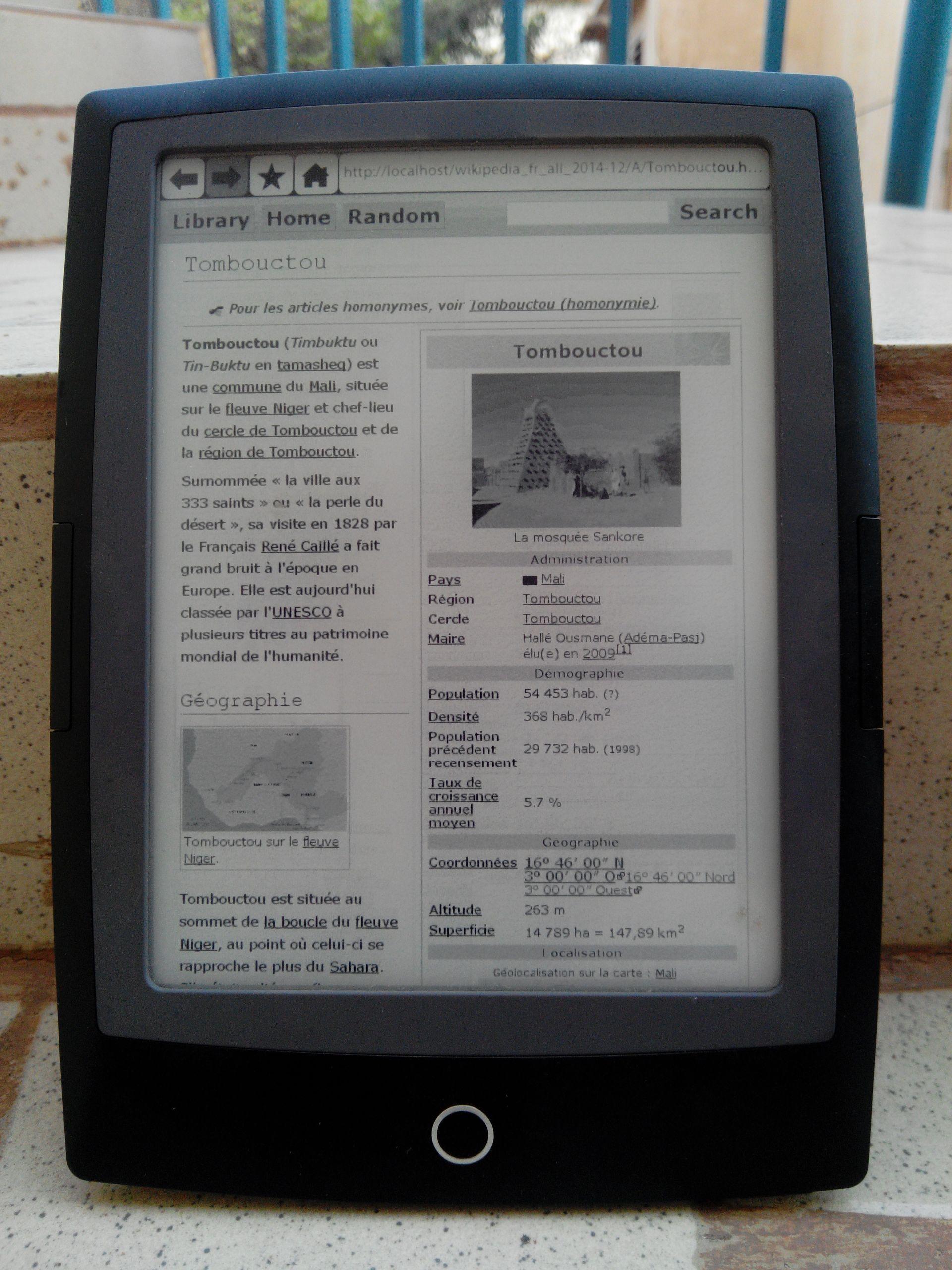 wikipedia on cybook