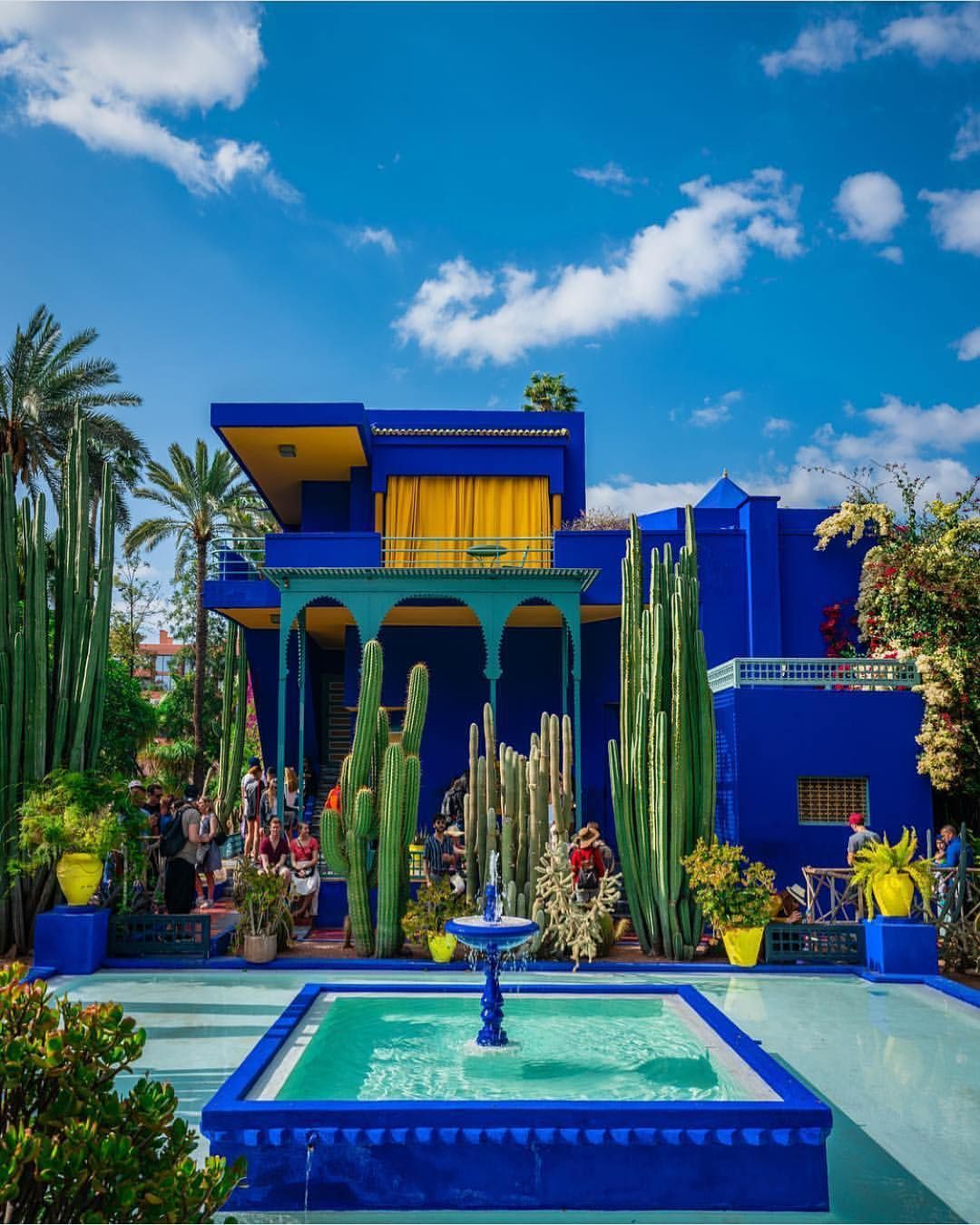 Jardin Majorelle Marrakech Élégant A Little Moroccan Beauty for This Amazing Day 🙌🏼💙💛a Of 85 Beau Jardin Majorelle Marrakech