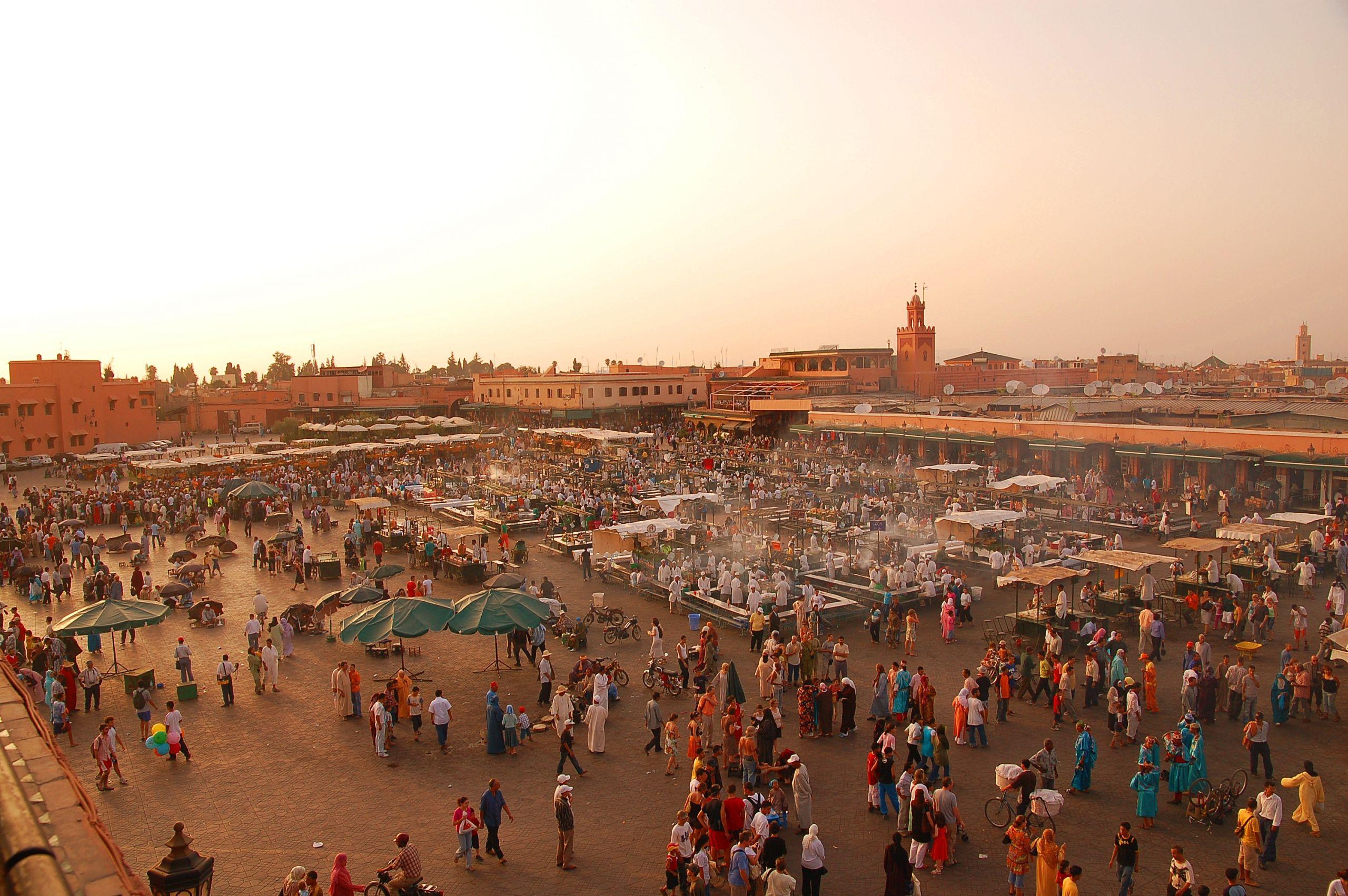Maroc Marrakech Jemaa el Fna Luc Viatour JPG
