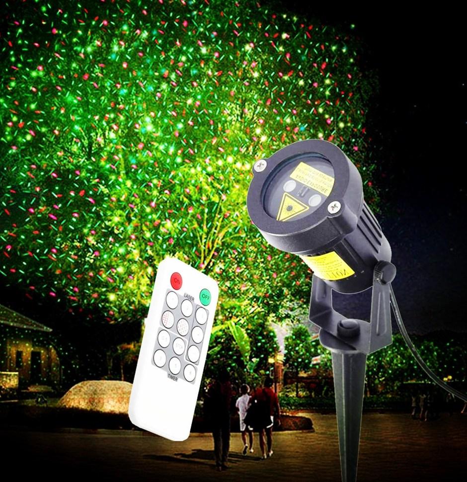 En plein air Projecteur Laser Lumière Rouge Vert Imperméable À L eau En Plein Air Paysage