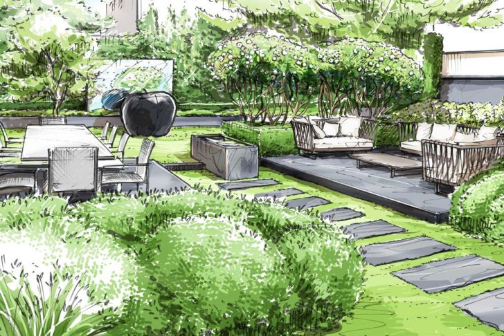 Jardin Paysagé Génial 230 Best Landscape Renderings Images