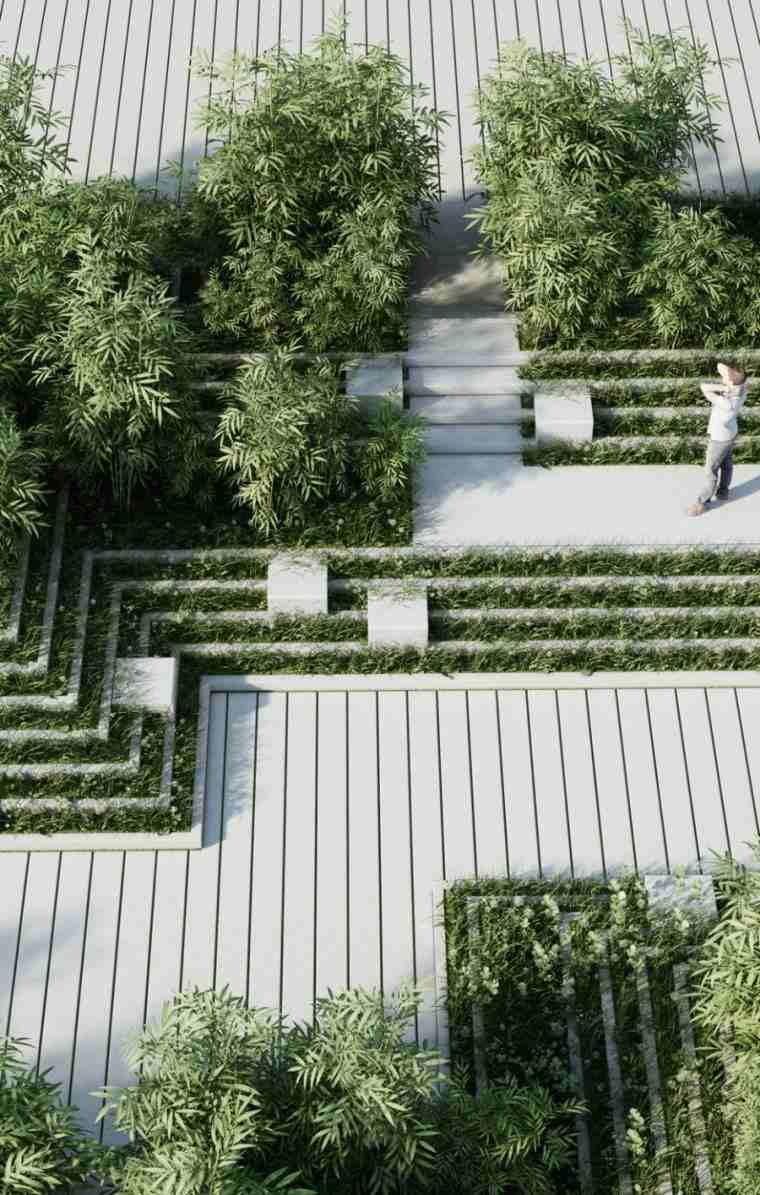 amenagement jardin paysager facile idees