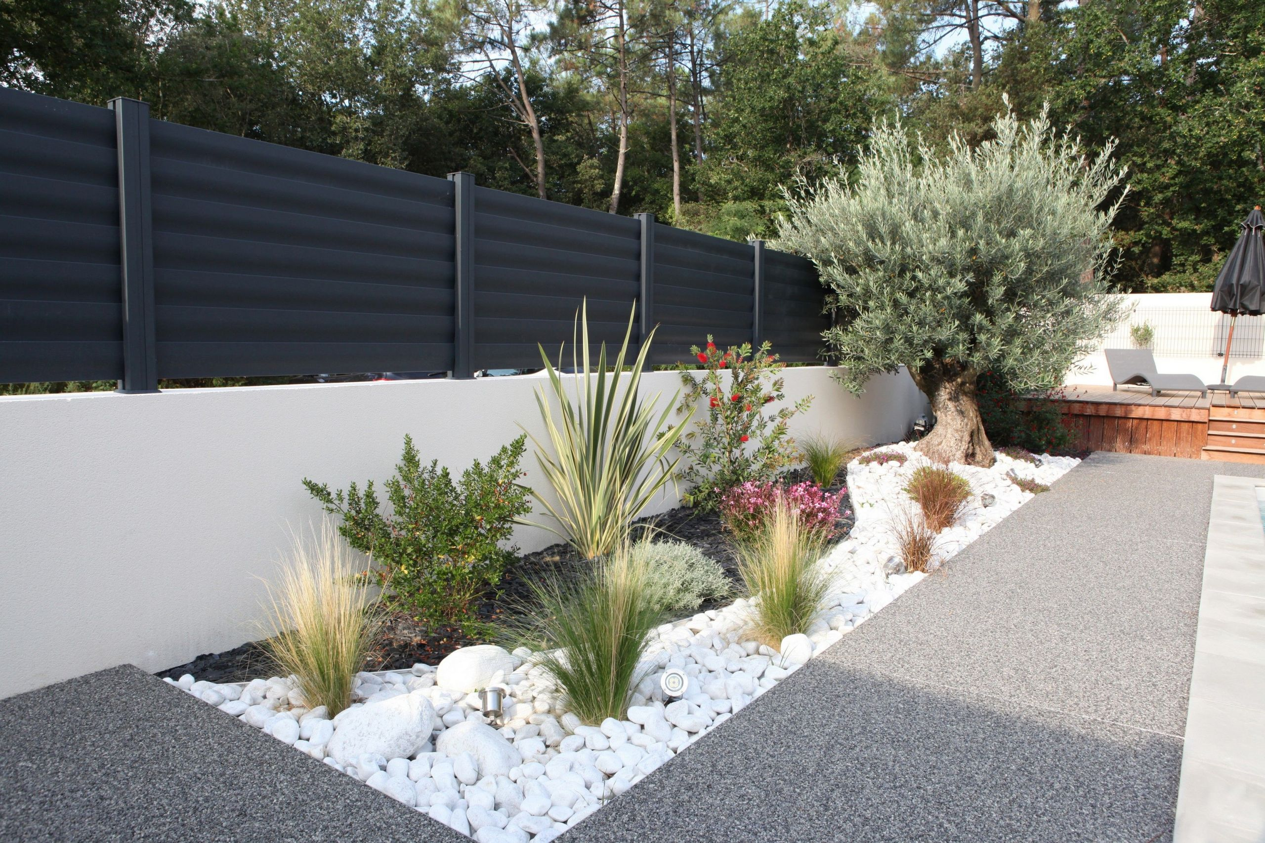 jardin paysager exemple clotures aluminium modele brise vue menuiserie cloturel of jardin paysager exemple scaled