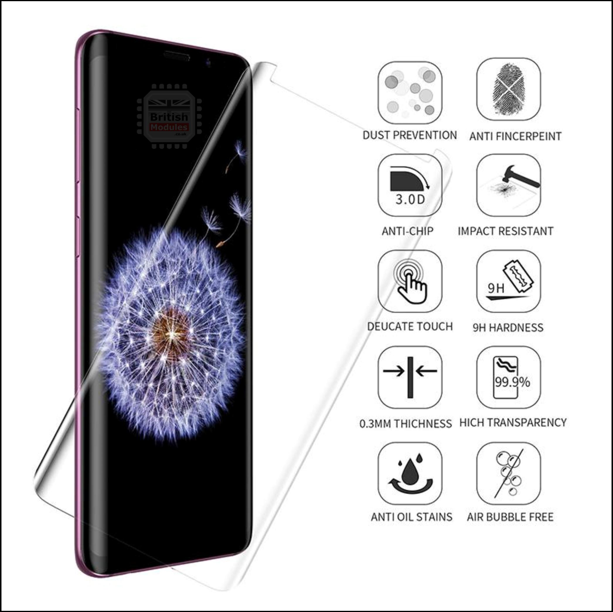 UV Nano Optics 3 D Curved 9 H Tempered Glass Screen Protector Web 3