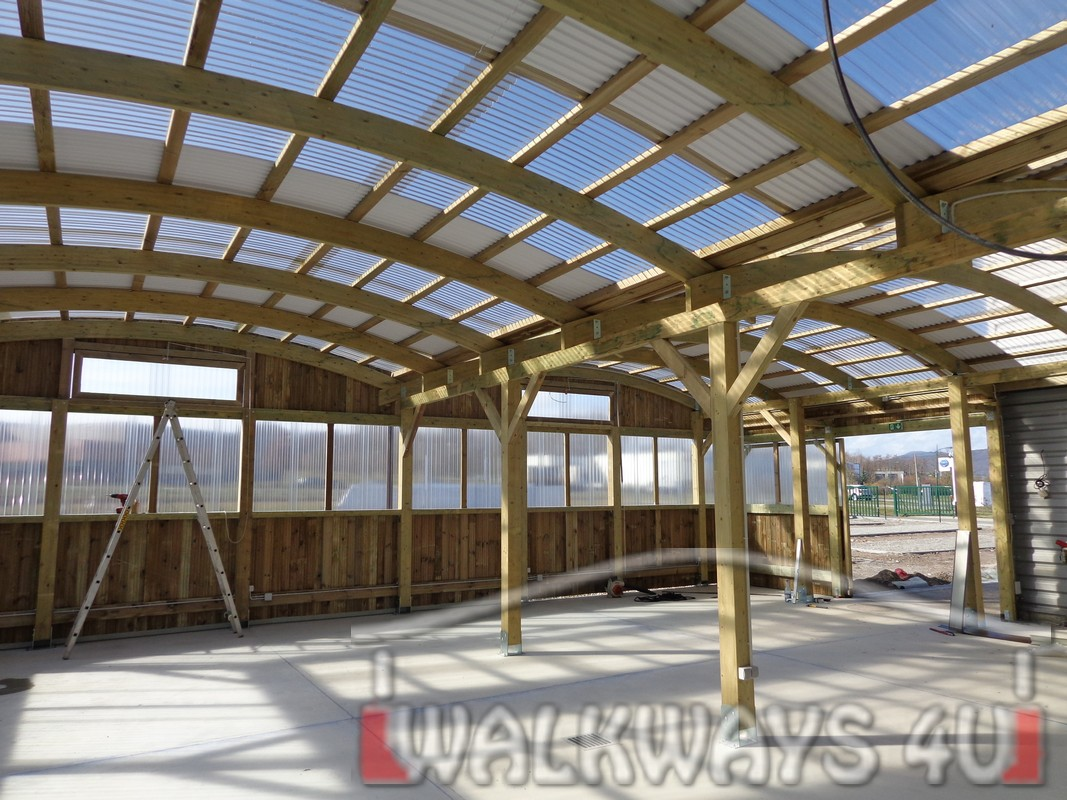 covered walkways mercial wood constructions ck espaces verts 10
