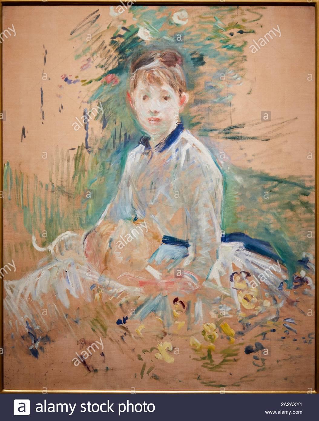 portrait de mlle lambert dit aussi isabelle au jardin 1885 berthe morisot 1841 1895 2A2AXY1
