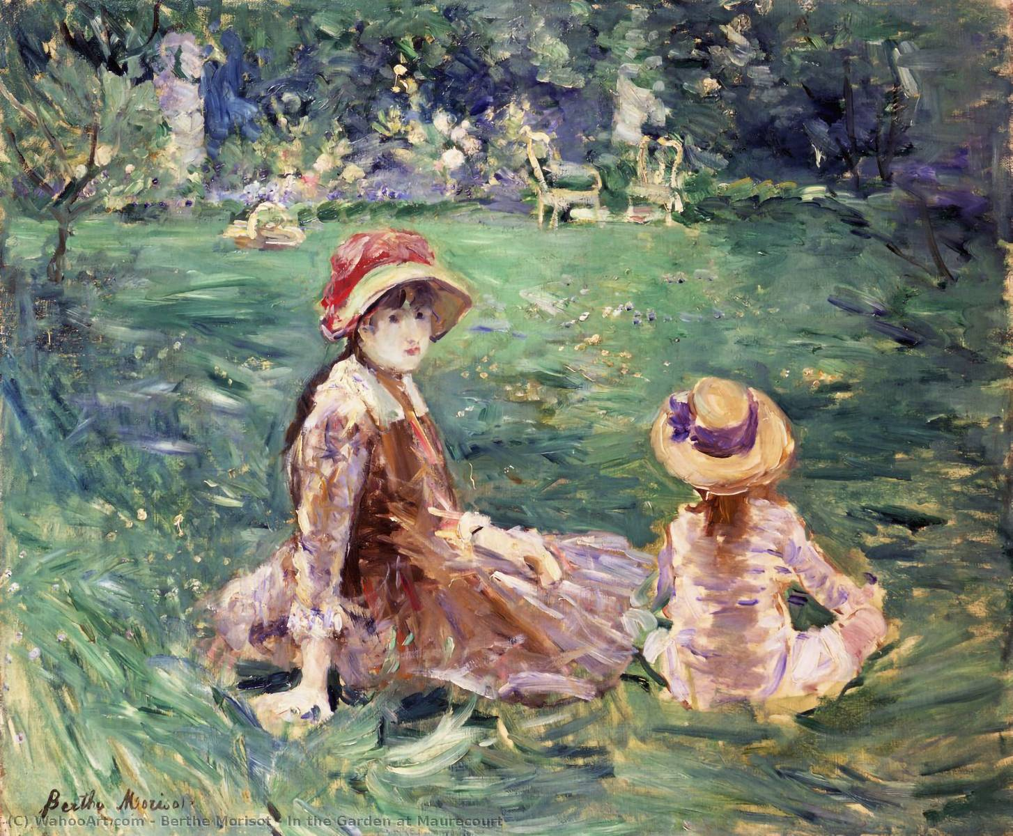 Berthe Morisot In the Garden at Maurecourt