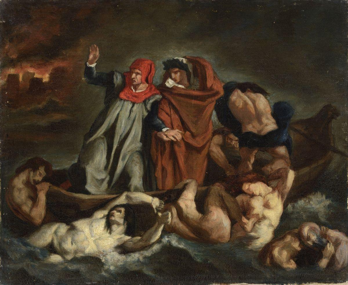 Copie d après La Barque de Dante de Delacroix Edouard Manet B 830
