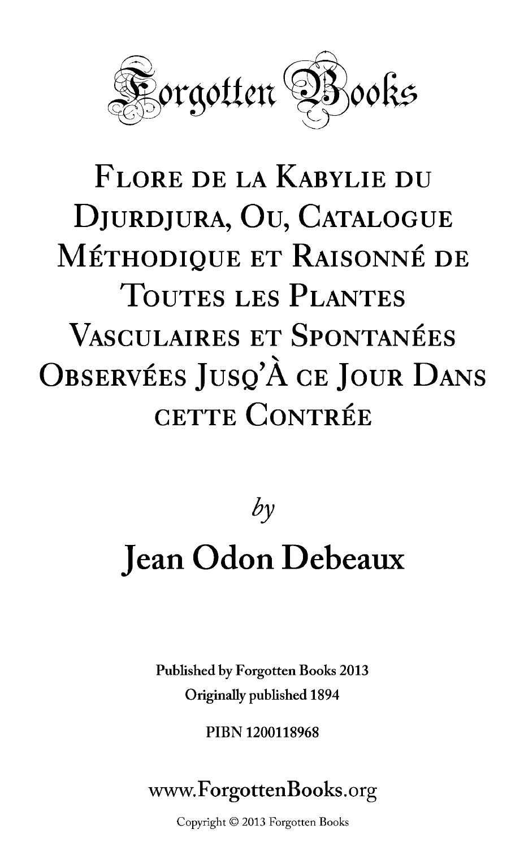 Le Jardin Des Plantes toulouse Charmant Flore De La Kabylie Du Djurdjura Ou Catalogue Methodique Et Of 73 Best Of Le Jardin Des Plantes toulouse