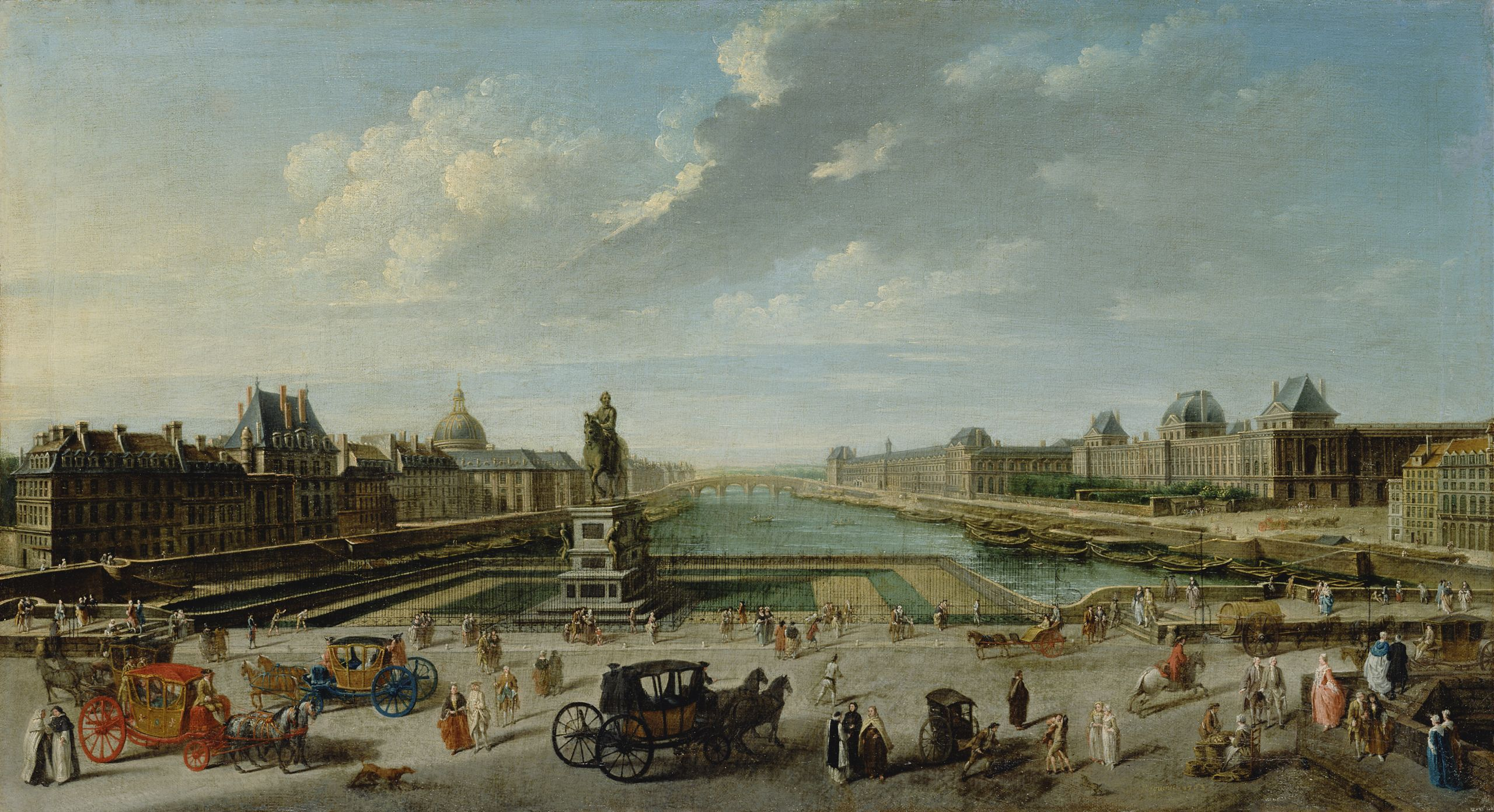 Nicolas Jean Baptiste Raguenet A View of Paris from the Pont Neuf Getty Museum