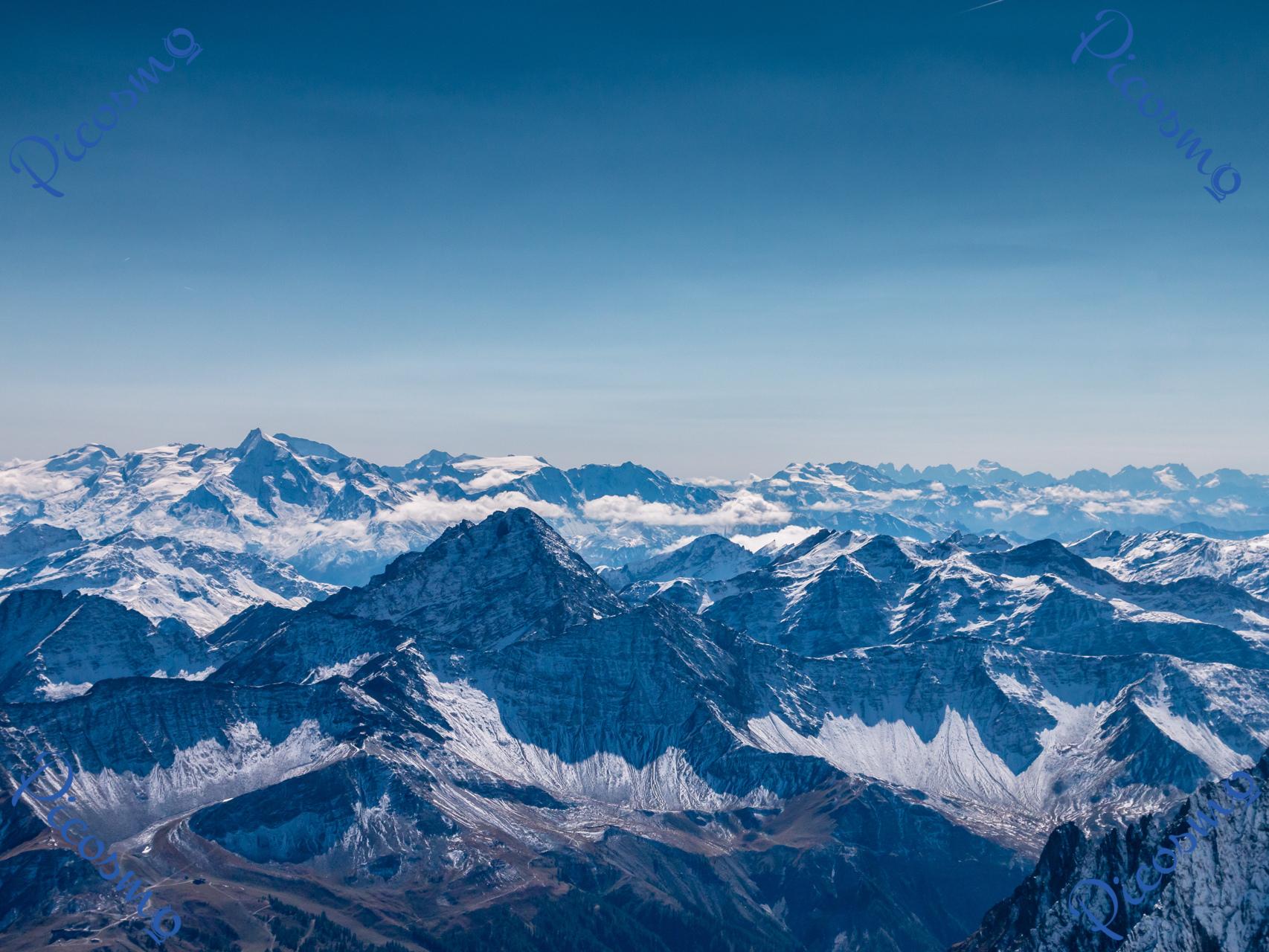 Massif Paysager Frais Vue Du Mont Blanc Vers L Italie