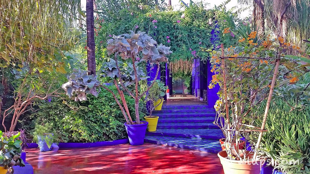 passage jardin majorelle carnet voyage maroc marrakech